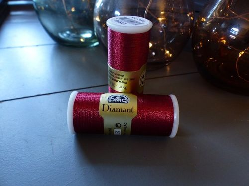 DMC - Fil Diamant coloris Rouge 321