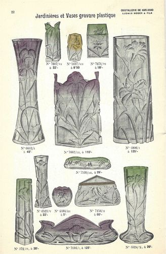 RARE CATALOG ART NOUVEAU KARLSBAD MOSER GLASS 1900's  PDF TO DOWNLOAD
