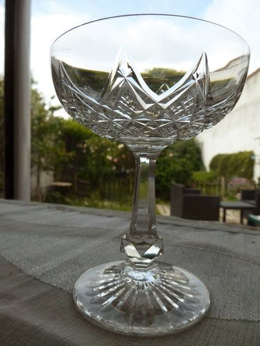 BACCARAT COLBERT CRYSTAL CHAMPAGNE GLASS  signed  stock: 4