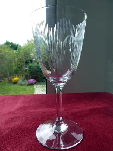 BACCARAT MOLIERE CRYSTAL  water glass  1916  16,8 cm  stock: 7
