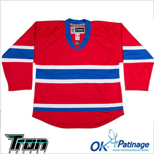 Tron maillot DJ300  Montreal rouge