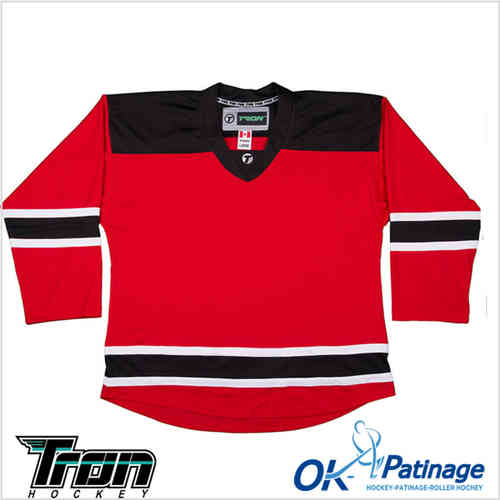 Tron maillot DJ300 New Jersey rouge