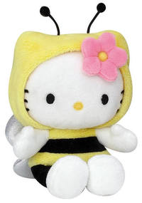 Peluche Hello Kitty 15 cm Abeille