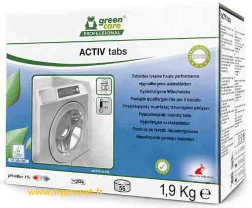 TANA GREEN CARE ACTIV TABS - lessive linge 112 tablettes