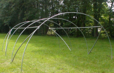 structure en acier galvanis 4 50x6m pour serre tunnel de jardin mod le tresor ebay. Black Bedroom Furniture Sets. Home Design Ideas