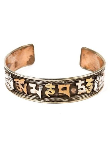 "Bracelte 3 metals with mantra ""OM MANI PADME HUM""."