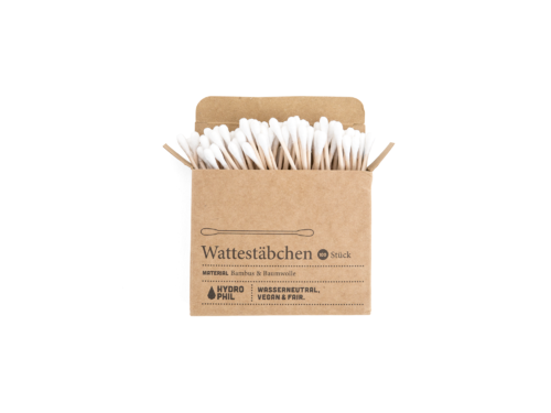 Cotton swabs from bamboo and soft cotton // 100 per box