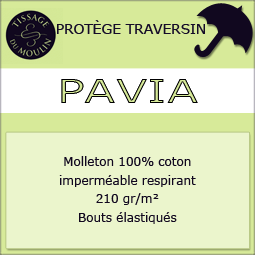 Pavia par Tissage du Moulin - Protège traversin molleton imperméable