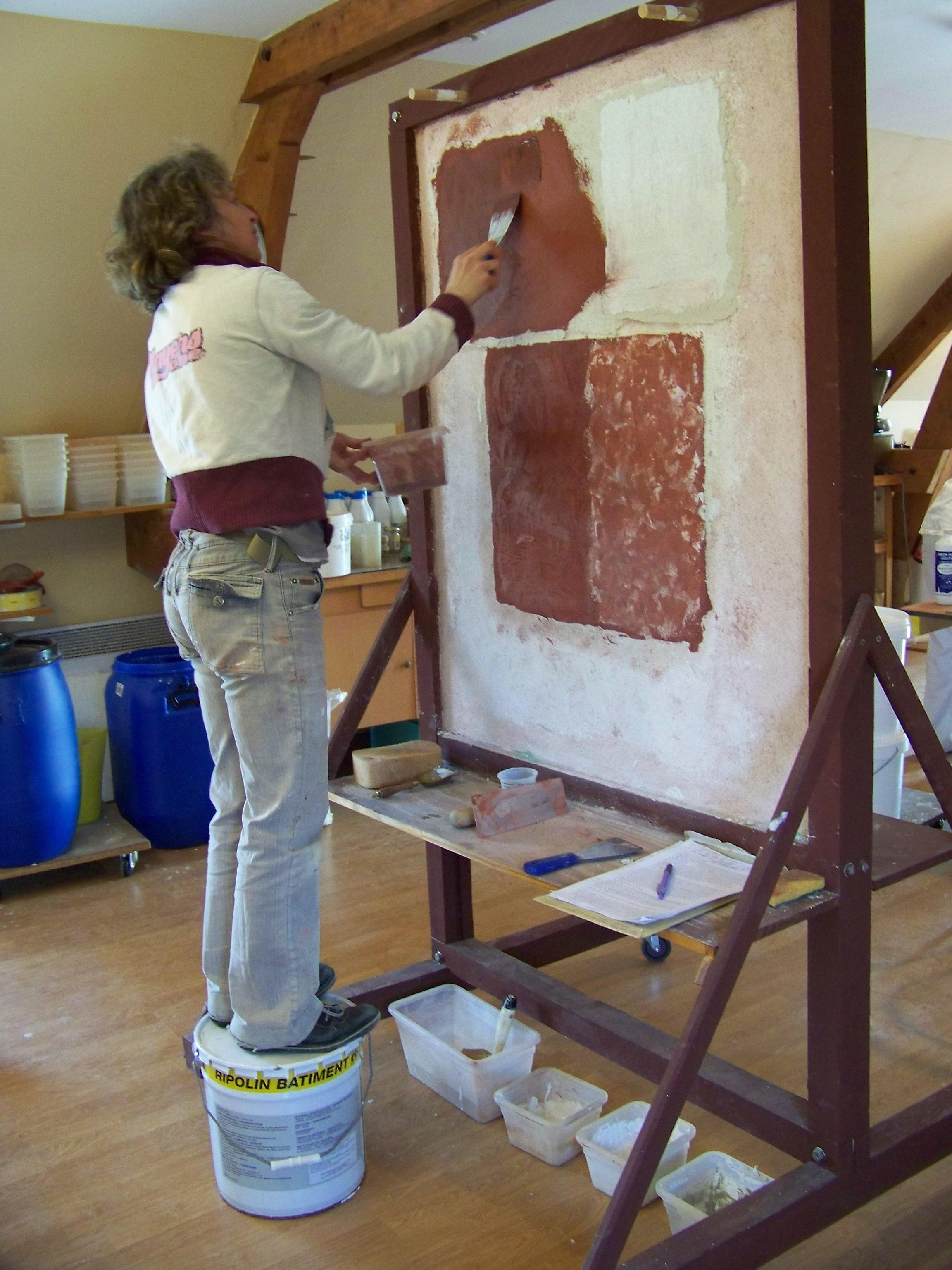 Pigments chaux en p te poudre de marbre liants couleur for Decoration a la chaux