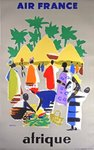 Affiche Afrique   Air France   1958  Even