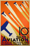 Affiche 10e Salon de L'Aviation  Paris 1926   Roger De Valerio - Retirage