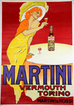 Affiche Martini   Vermouth  Torino   San Marco   Reedition 1960