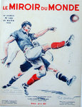 Affiche   Match de Football  France  Allemagne Berlin  Mars 1933