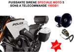 Puissante Sirene Electronique 5 sons Speciale Moto 150db!