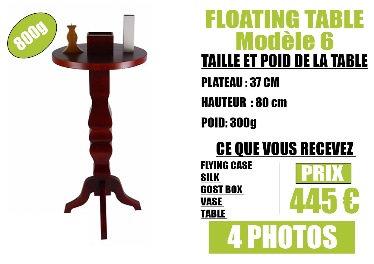 FLOATING TABLE model 6