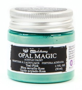 Teal Pink - Acrylic Paint Opal Magic Prima Marketing