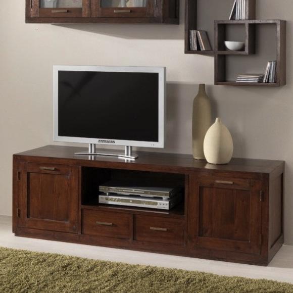 Mobile porta tv etnico legno massello coloniale orientale vintage mobili etnici ebay - Porta tv originali ...