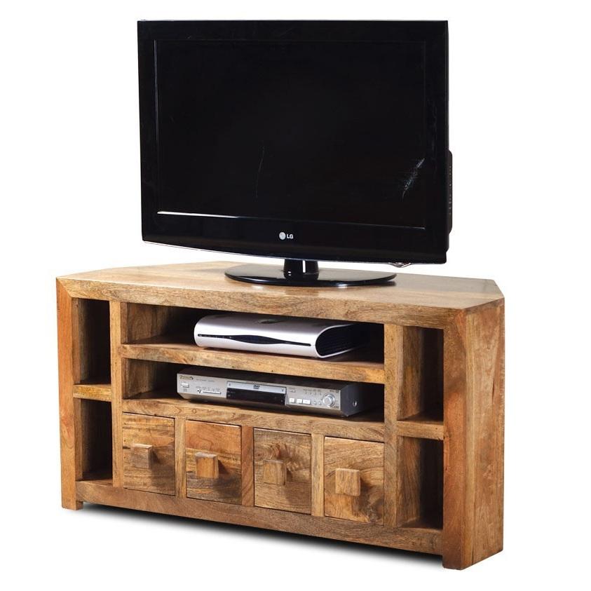 Mobile porta tv ad angolo etnico vintage chic coloniale legno massello su misura ebay - Mobile angolare porta tv ...