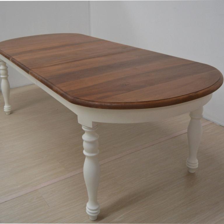 TAVOLO BIANCO SHABBY CHIC PROVENZALE VINTAGE legno massello 180X100 ...