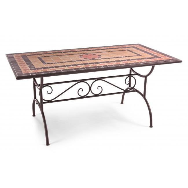 Tavolo ferro mosaico da giardino – Tavoli giardino online