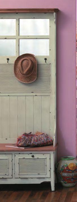 ... Mobile per ingresso bianco shabby chic Cappelliera provenzale Ingresso