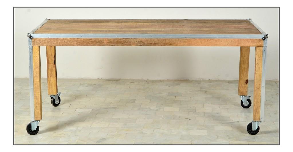 Tavolo pranzo industrial legno di mango