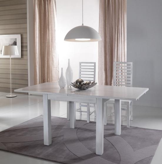 Tavolo bianco shabby chic allungabile legno massellotavoli - Tavolo bianco shabby chic ...