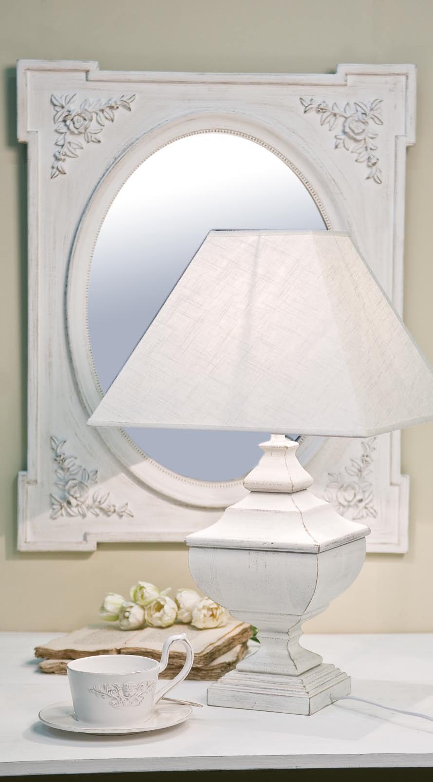 Specchio provenzale bianco decapato 100x80 shabby chic - Specchio provenzale ...