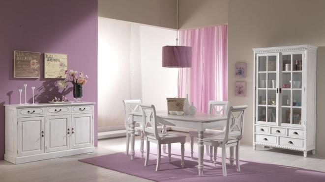 Spl100271w tavolo provenzale 150x85h97 all a 190 8364 for Mobili bianchi stile provenzale
