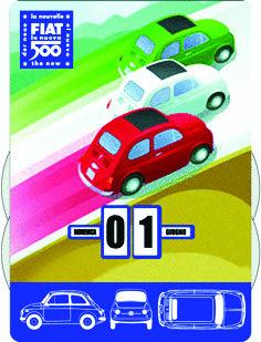 CALENDARIO FIAT 500 FICL03 FORME