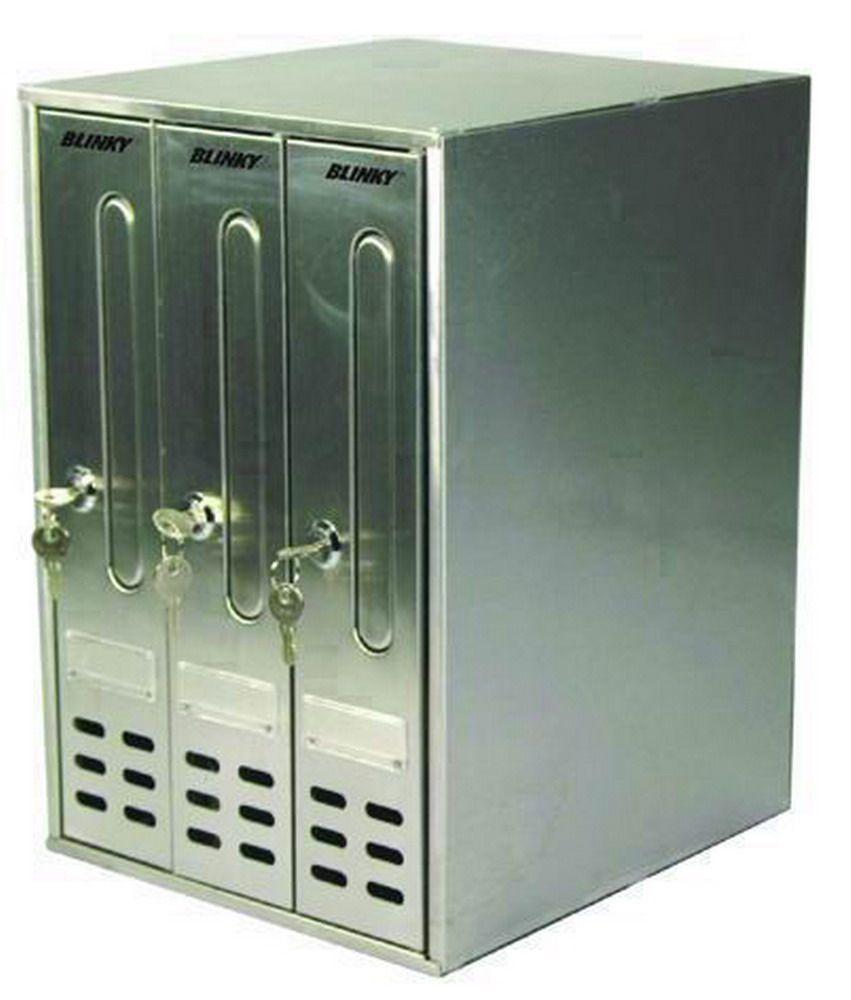 Casellari Postali Alluminio - Blinky C/3 Silver Cod.2736003 - Blinky