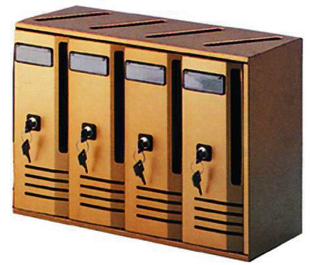 Casellari Postali Alubox Alu - Bronzo C/4 Serie 4 Cod.2736010 - Alubox