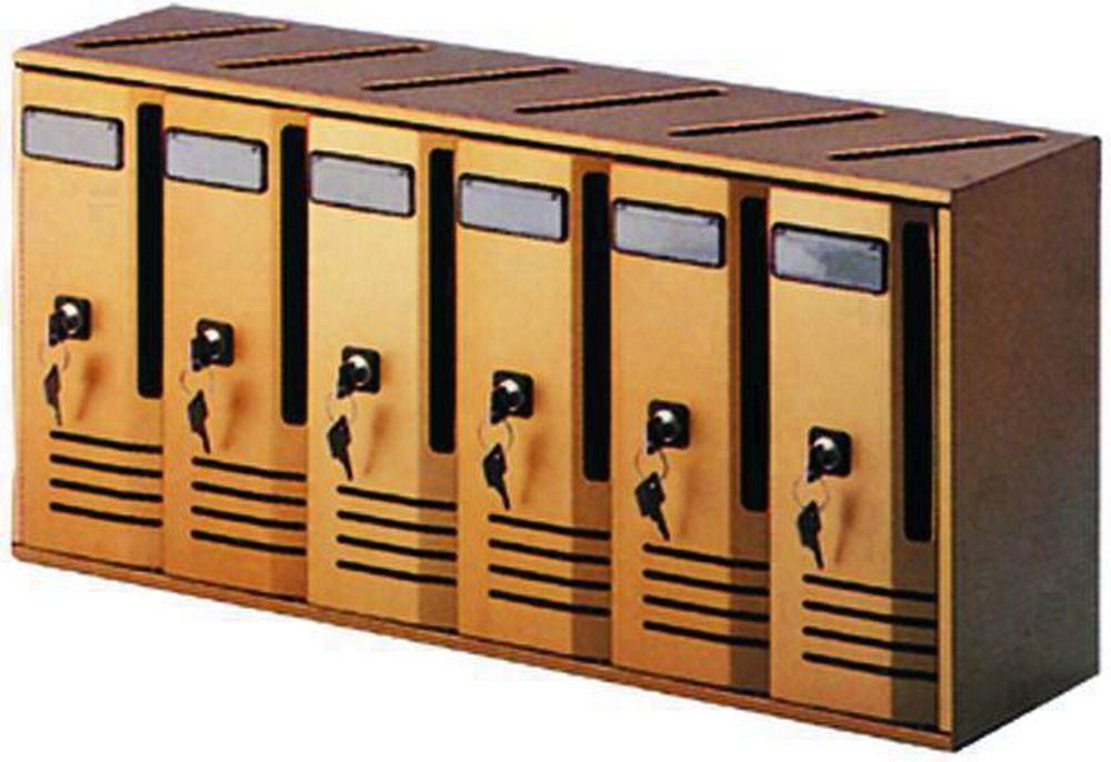 Casellari Postali Alubox Alu - Bronzo C/6 Serie 6 Cod.2736020 - Alubox