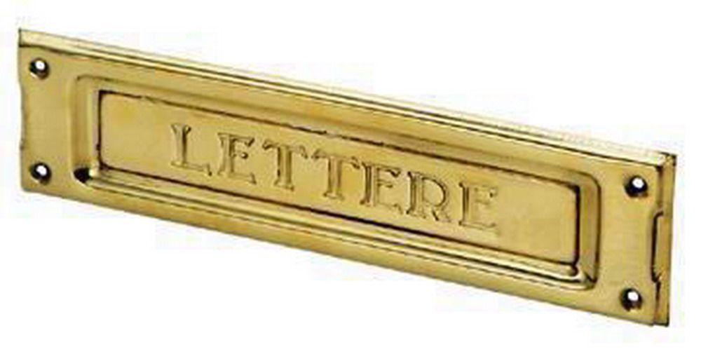Buche Per Lettere - 2501 Ottone Lucido Cod.2741010 - Blinky