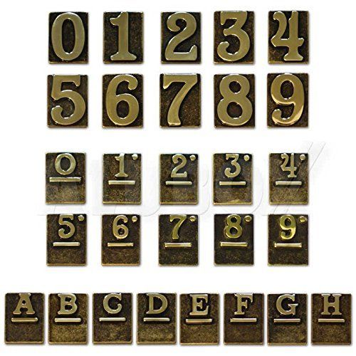 Numeri Civici Ottone Lucido - Tre Cod.2747803 - Blinky