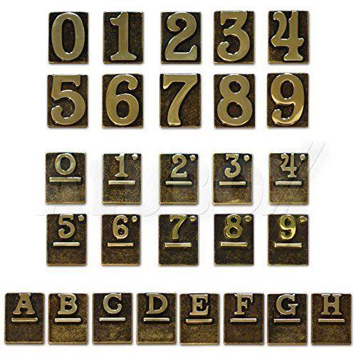 Numeri Civici Ottone Lucido - Due Cod.2747802 - Blinky