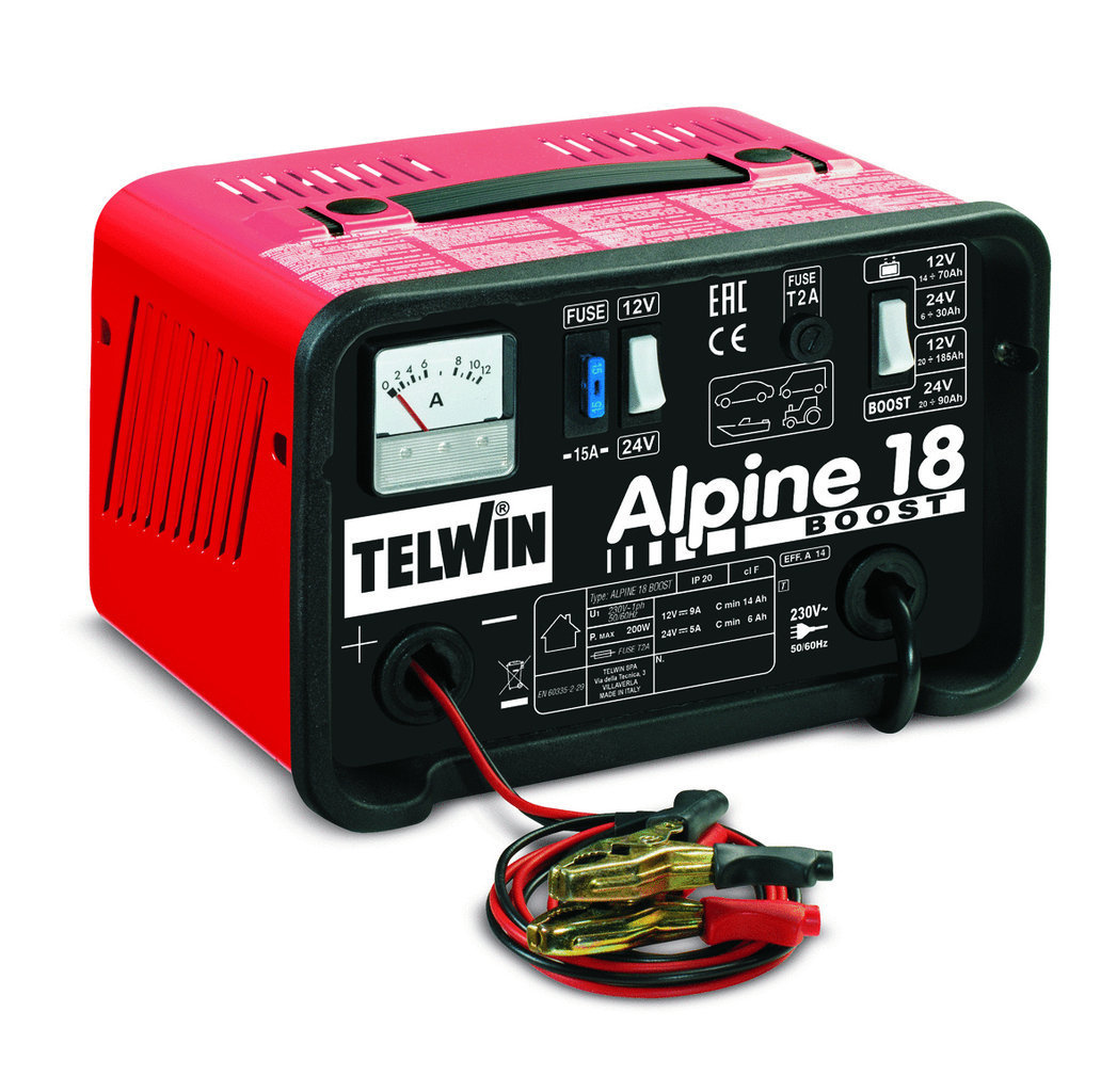 Caricabatterie Alpine 18 Boost 230 V 12-24 V _Cod. 807545_Telwin