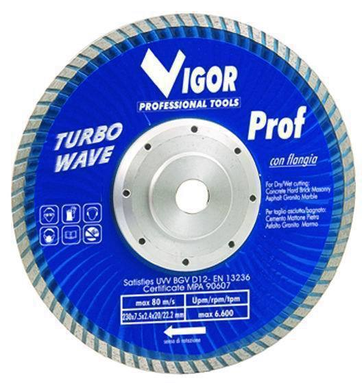 Dischi Diamantati Turbo-Wave - Dia.Mm.230 Cod.5281530 - Vuemme