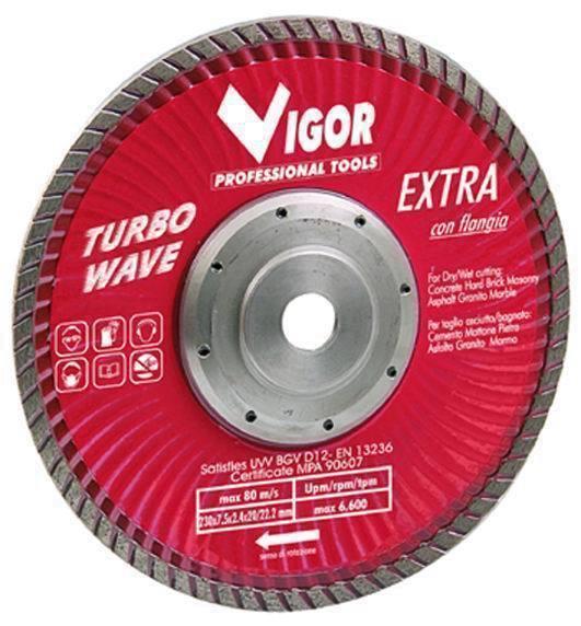 Dischi Diamantati Turbo-Wave - Dia.Mm.230 Cod.5281520 - Vuemme