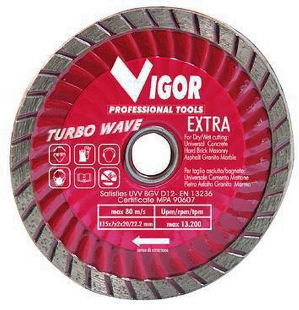 Dischi Diamantati Turbo-Wave - Dia.Mm.115 Cod.5281015 - Vuemme