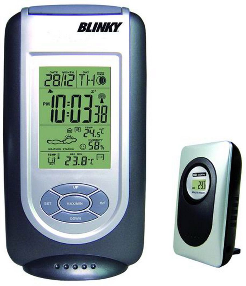 Termometro Digitale - Barometro Con Sensore Remote Cod.9588610 - Vuemme