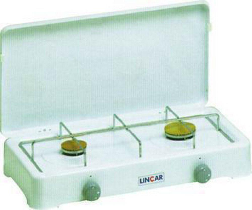 Fornello Gas Gpl - Acciaio Porcellanato 2 Fuochi - Mod. 5326 Cod.9800020 - Parker