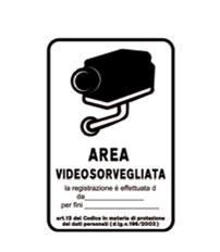CARTELLO VIDEOSORVEGLIANZA 200 X 300 MM