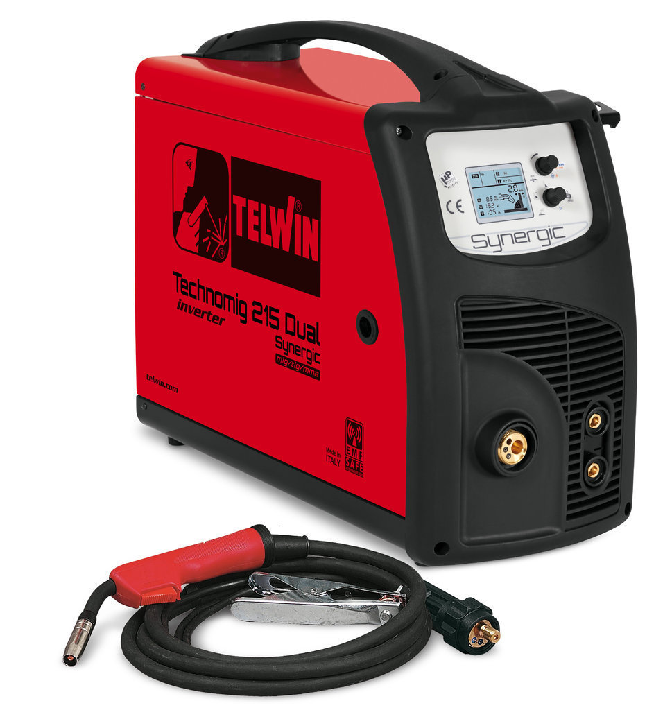 Saldatrice a filo Technomig 215 Dual Synergic 230V         Cod.816053 - Telwin