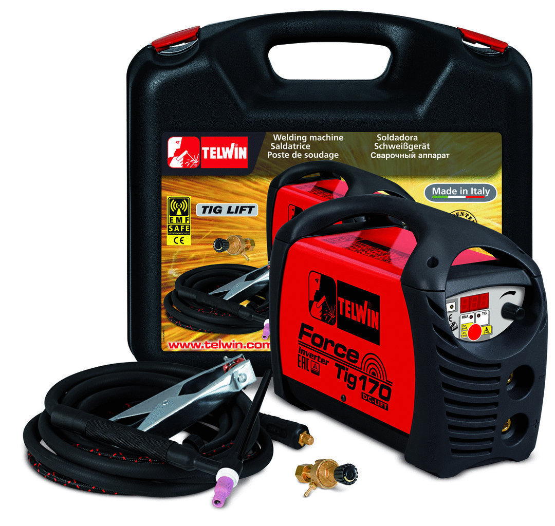 Saldatrice Tig Force Tig 170 230V Kit Val. Plastica    _Cod. 816214_Telwin