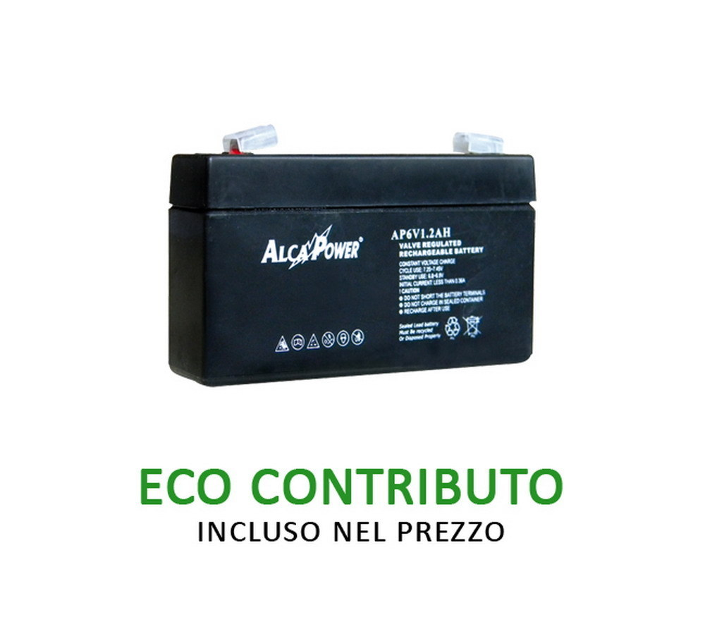 Ricaricabile Ermetica 6 V  1,2 Ah - Size (mm) 97x25x51(h) Mod. AP6V1,2AH