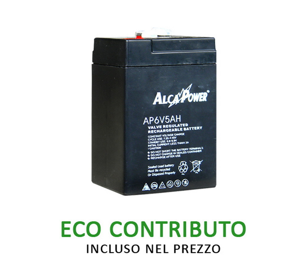 Ricaricabile Ermetica 6 V  5 Ah - Size (mm) 70x47x101(h) Mod. AP6V5AH