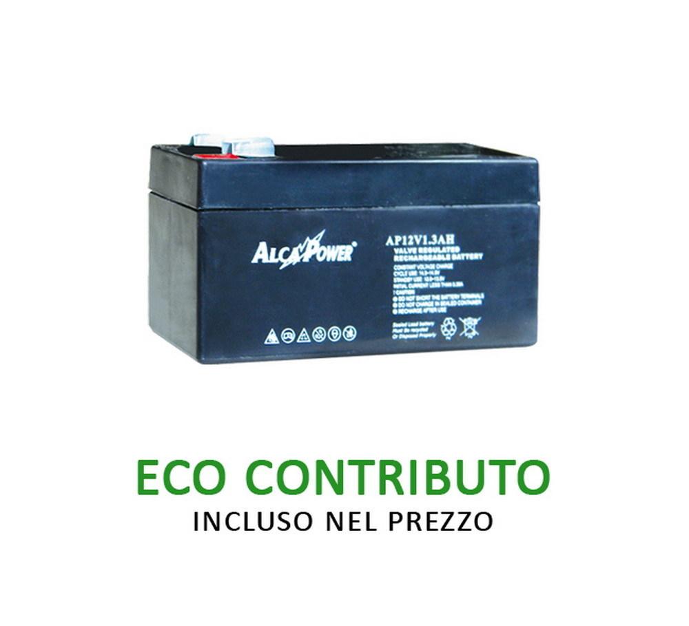 Ricaricabile Ermetica 12 V  1,3 Ah - Size (mm) 97x47,5x52(h)  Mod. AP12V1,3AH