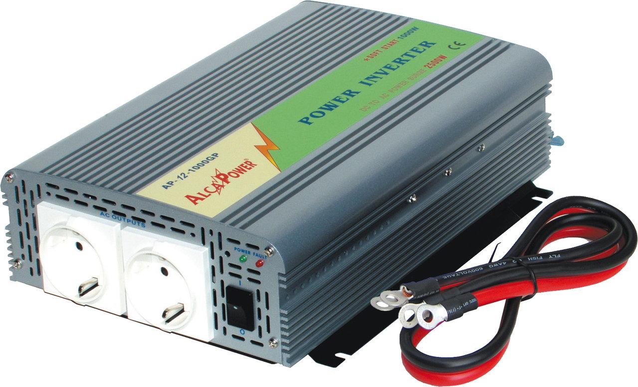 Inverter Soft Start 1000W Input 10-15Vcc Output 220Vac  Ap12-1000Gp_Cod. 912335_AlcaPower