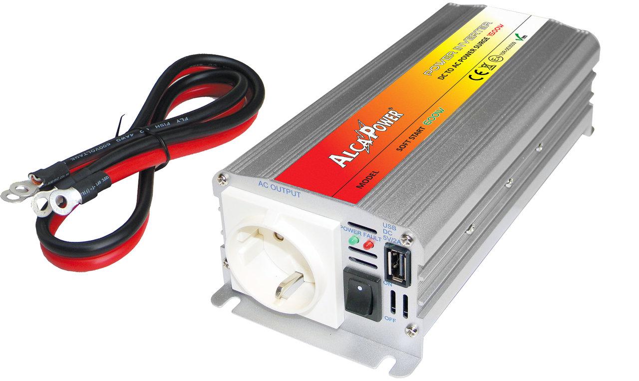 Inverter Soft Start 600W Input 20-30Vcc Output 220Vac  Ap24-600Gp_Cod. 924332_AlcaPower